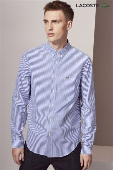 Lacoste® Blue Fine Stripe Shirt