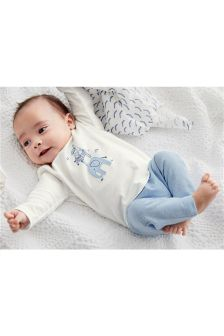 Embroidered Character T-Shirt And Leggings Set (0mths-2yrs)