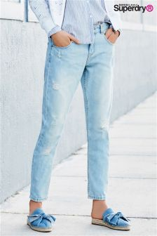 Superdry Authentic Light Wash Riley Girlfriend Jean