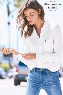Abercrombie & Fitch White Oxford Shirt