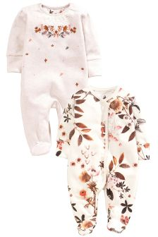 Alpine Floral Sleepsuits Two Pack (0mths-2yrs)