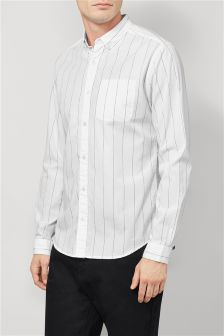 Long Sleeve Wide Stripe Shirt