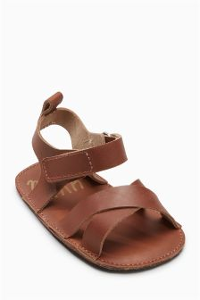 Pram Leather Sandals (Younger Boys)