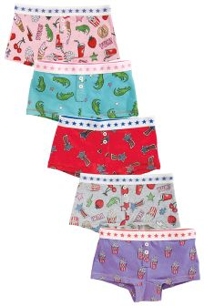 Cartoon Boxers Five Pack (3-16yrs)