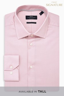 Buy Men's Shirts Pink Long Sleeve Longsleeve from the Next UK ...
