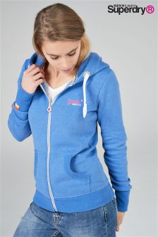 Superdry Blue Orange Label Zip Hoody