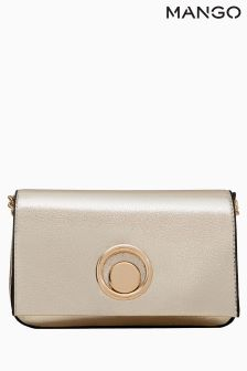 Mango Gold Cross Body Bag