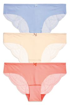 Lace No VPL Brazilian Three Pack