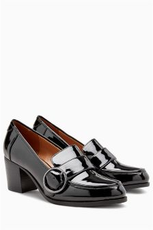 Patent Buckle Loafers