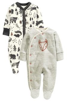 Alpine Fox Sleepsuits Two Pack (0mths-2yrs)