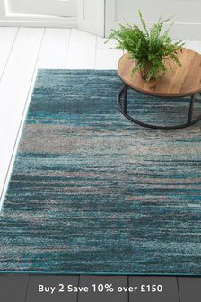 Abstract Stripe Rug Studio Collection By Next