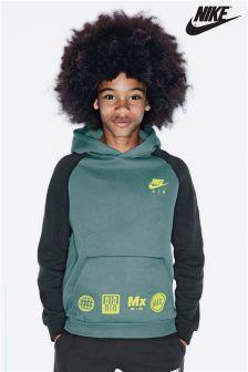 Nike Black/Green Raglan Hoody