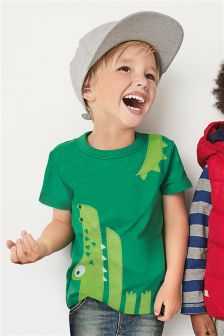 Short Sleeve Crocodile T-Shirt (3mths-6yrs)