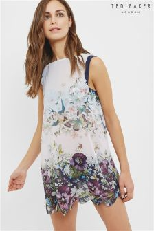 Ted Baker Navy Entangled Enchantment Printed Floral Cover Up