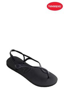 Havaianas® Black Luna Strap Flip Flop