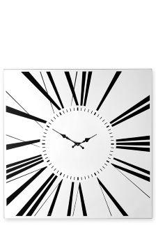 Mirrored Roman Wall Clock