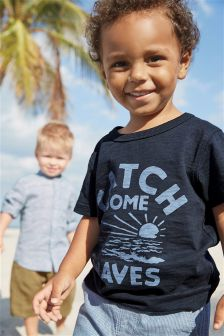 Short Sleeve Catch Some Waves T-Shirt (3mths-6yrs)