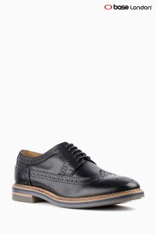Base London Black Grained Brogue
