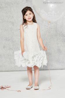 Angel & Rocket Silver Mesh Dress