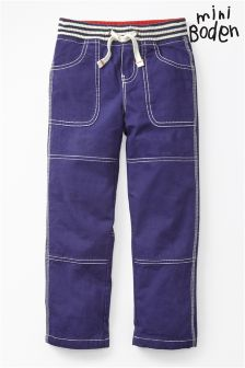Boden Dark Blue Lined Mariners Trousers