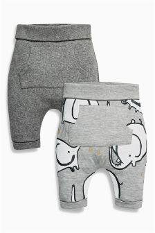 Elephant Joggers Two Pack (0mths-2yrs)