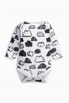 Cloud Print Long Sleeve Bodysuit (0-18mths)