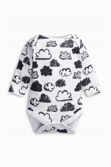 Cloud Print Long Sleeve Bodysuit (0-18mths)