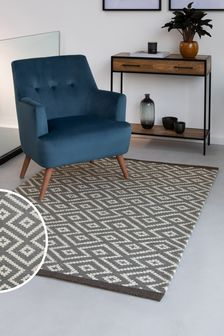 Wool Blend Diamond Geo Rug