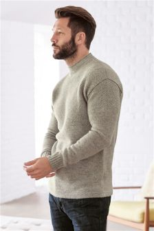 Textured Gansy Jumper
