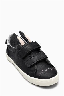 Touch Fastening Bunny Trainers (Younger Girls)