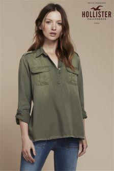 Hollister Khaki Popover Shirt