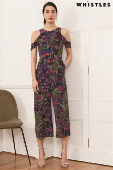 Whistles Navy Mia Floris Jumpsuit
