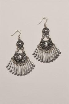 Burnished Drop Earrings