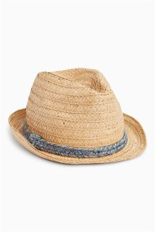 Straw Trilby (Older Girls)