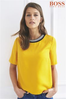 Boss Orange Yellow Gold Kaberry Short Sleeve Top