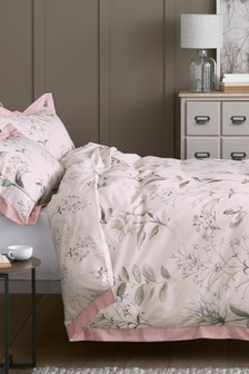 Cotton Sateen Delicate Floral Bed Set