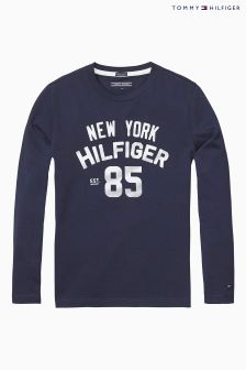 Tommy Hilfiger Navy Logo Top