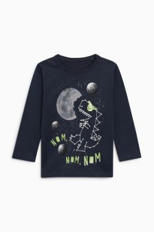 Space Dino Long Sleeve T-Shirt (3mths-6yrs)