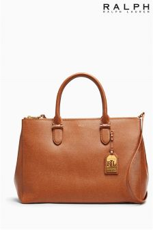 Ralph Lauren Tan Leather Shoulder Bag