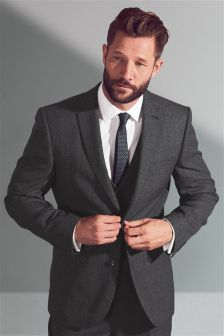 Textured Regular Fit Suit