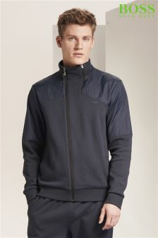 Boss Green Navy Skavon Zip Through Hooded Jacket