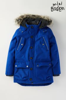 Boden Bright Blue Worsley Parka