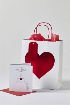 Love Triangle Card And Bag Set