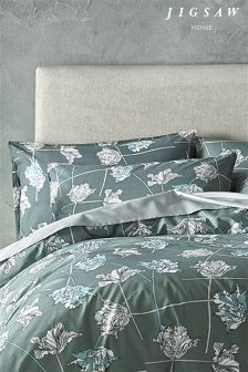 Jigsaw Grey/Blue Dancing Tulips Housewife Pillowcase