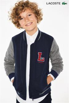 Lacoste® Navy Raglan Varsity Jacket