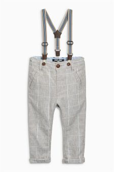 Linen Rich Formal Trousers With Detachable Braces (3mths-6yrs)