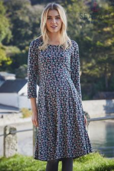 Seasalt Navy Moules Dress