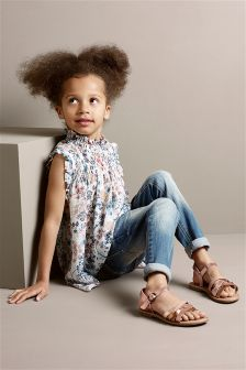 Frill Neck Blouse (3-16yrs)