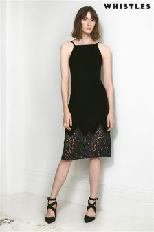 Whistles Black Dakota Velvet Dress