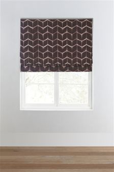Chocolate Ethnic Chevron Roman Blind